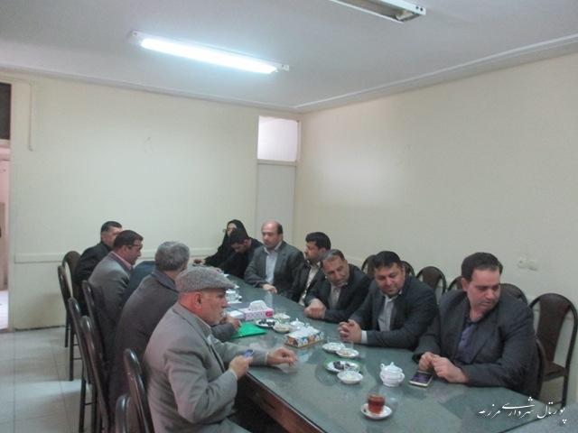 جلسه ای در خصوص معارفه امام جمعه شهر مزرعه کتول