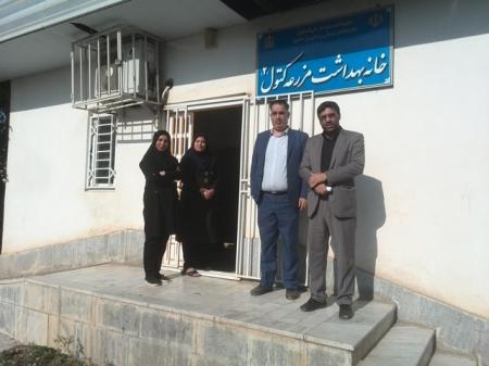 بازدید شورا و شهردار از خانه بهداشت شهر مزرعه کتول