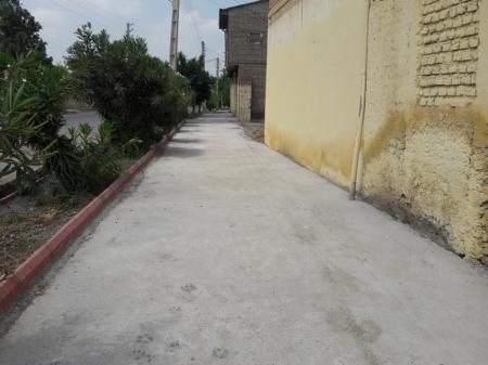 آغاز پیاده رو سازی جعفر آباد شهر مزرعه کتول