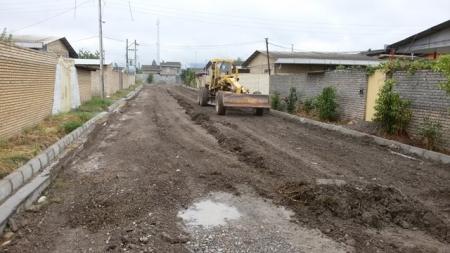 آغاز پروژه زیر سازی و آسفالت معابر شهر مزرعه کتول